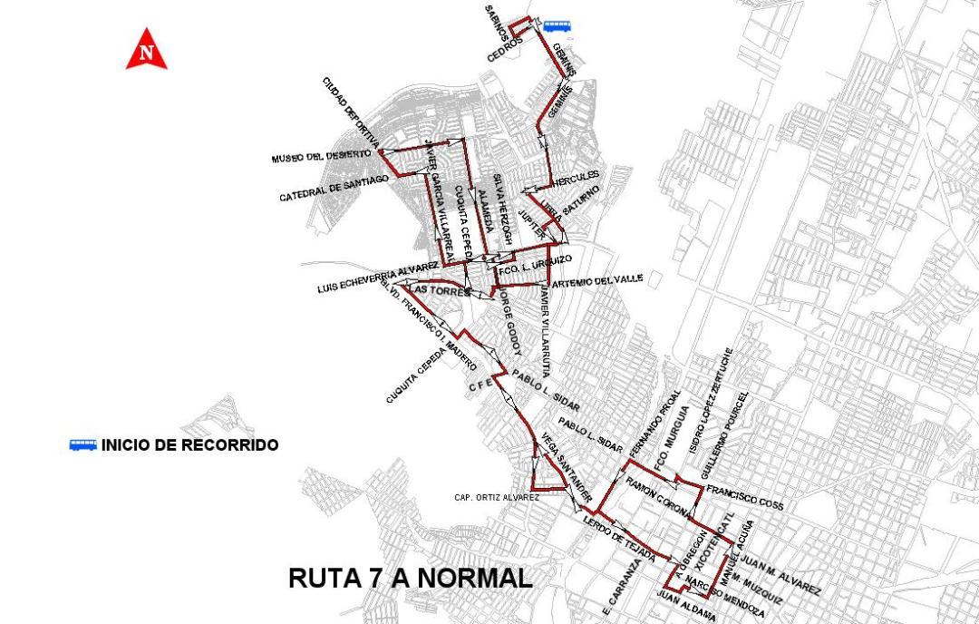 RUTA 7 A NORMAL
