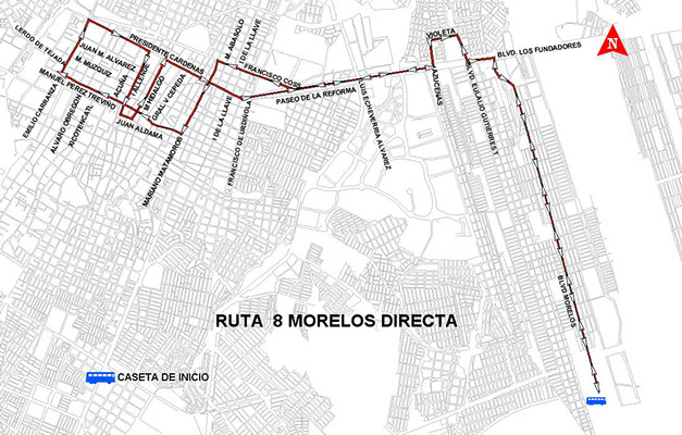 ruta 8 morelos directa